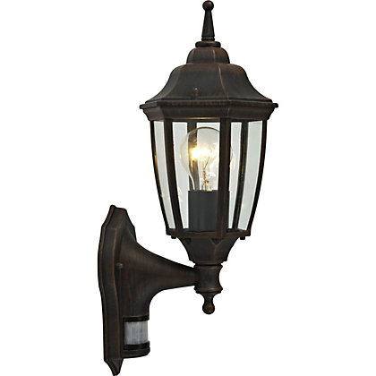 Image for Amalfi Outdoor Wall Lantern with PIR Sensor - Bronze from StoreName