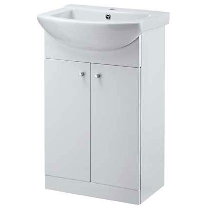 Image for Buxton Vanity Unit with 1 Tap Hole Ceramic Basin - 55cm from StoreName