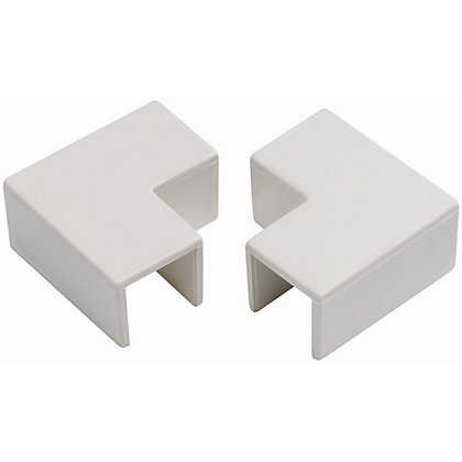 Image for Schneider INS20115 Electric Mini Trunking Flat Angles - White - 16x16mm from StoreName