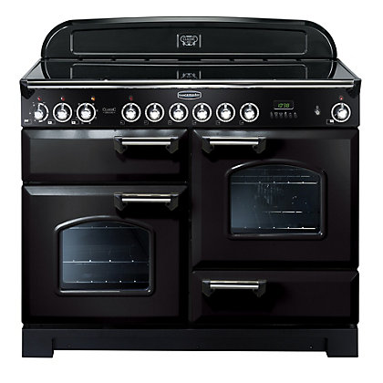 Image for Rangemaster Classic Deluxe 81340 110cm Electric Ceramic Cooker - Black from StoreName
