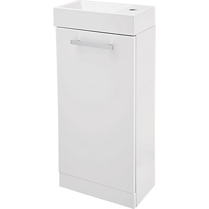 Image for Cannock Cloakroom 400mm Vanity Unit and Basin - White Gloss from StoreName