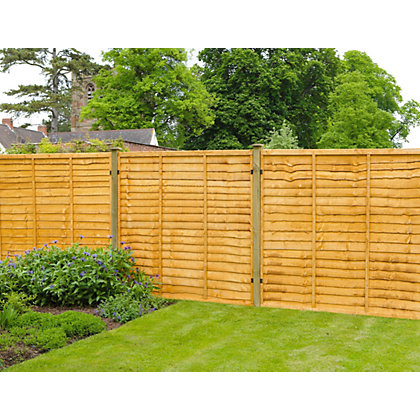 Image for Forest Lap Fence Panel - 6x6ft from StoreName