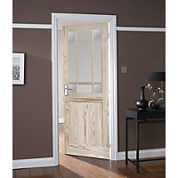 Kensington 9 Lite Clear Glazed Pine Internal Door - 762mm Wide