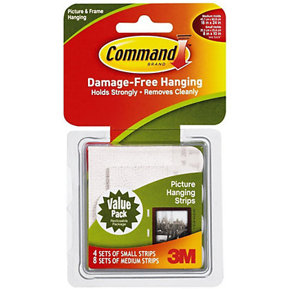 Image for 3M Command Value Self-adhesive Picture Hanging Strips Combination - 12 Pack from StoreName