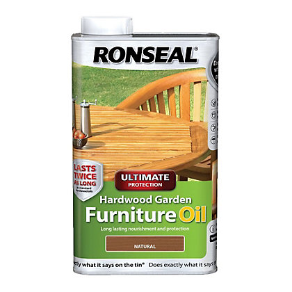 Image for Ronseal Hardwood Garden Furniture Oil - 1L from StoreName