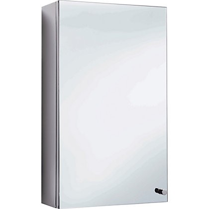 Image for Michigan Single Door Corner Bathroom Cabinet - Stainless Steel from StoreName