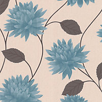 Superfresco Easy Romance Wallpaper - Teal