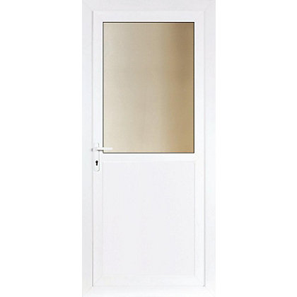 Image for Brighton Rear Door Set - Obscure Half Glazed Right Hand Hung - 840mm Wide 2085mm High from StoreName