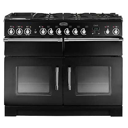 Image for Rangemaster Excel 80520 110cm Dual Fuel Cooker - Black & Chrome from StoreName