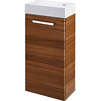 Cannock Cloakroom 400mm Vanity Unit and Basin - Walnut