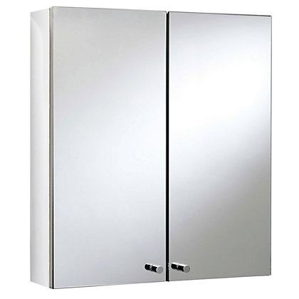 Image for Michigan Double Door Bathroom Cabinet - Stainless Steel from StoreName