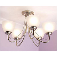 Rome Satin Nickel Ceiling Light