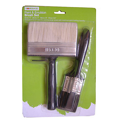 Image for Homebase Value Paint & Emulsion Brush Set - 4 pack from StoreName