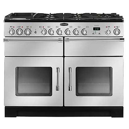 Image for Rangemaster Excel 80540 110cm Dual Fuel Cooker - Silver & Chrome from StoreName