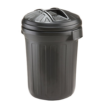 Image for Strata Essentials Black Bin - 80L from StoreName