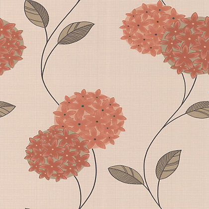 Image for Superfresco Colour Pippa Wallpaper - Orange from StoreName