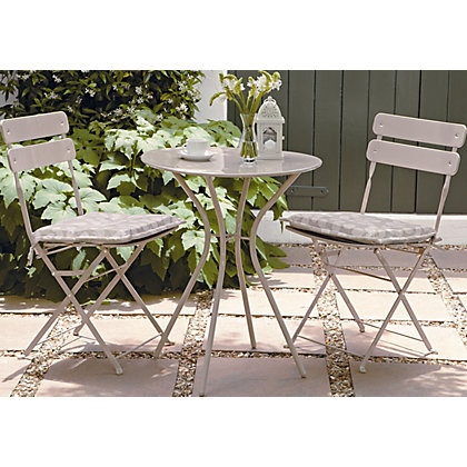 Folding Bistro Garden Furniture Set Stone