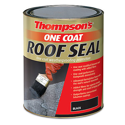 Image for Thompsons Black One Coat Roof Seal - 5L from StoreName