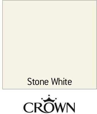 Crown Solo Stone White One Coat Satin Paint 750ml