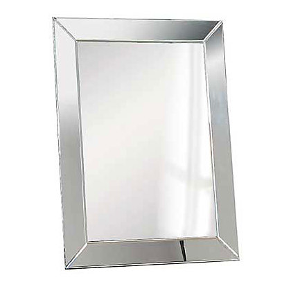 Bevelled edge glass mirror 80 x 60cm for Mirror 80 x 60