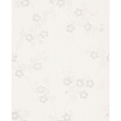 Image for Superfresco Cherry Blossom White Mica Wallpaper from StoreName
