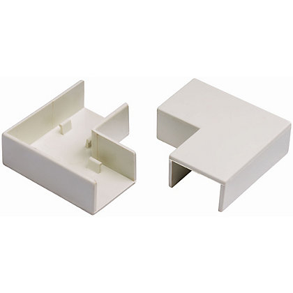 Image for Schneider INS20125 Electric Mini Trunking Flat Angles - White - 25x16mm from StoreName