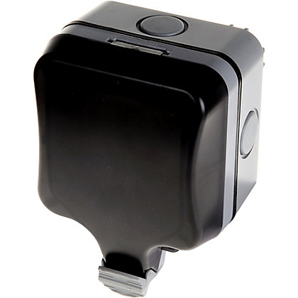 Image for BG Single 13A Weatherproof Switched Socket - IP66 Rated from StoreName