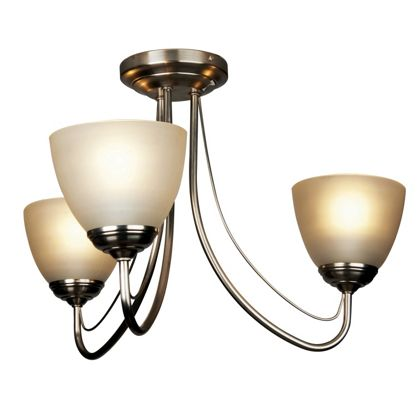 Rome Light Fitting - Satin Nickel - 3 Light at Homebase -- Be inspired and make your house a ...