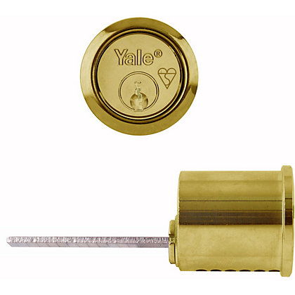 Image for Yale X5 High Security BS Replacement Rim Cylinder - Polished Brass from StoreName