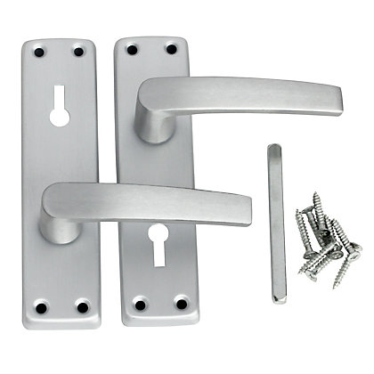 Image for HBV Lever Lock - Satin Aluminium from StoreName