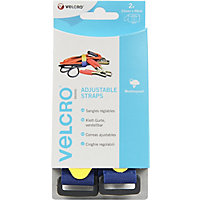 Velcro Adjustable Straps - Blue - 2 pack