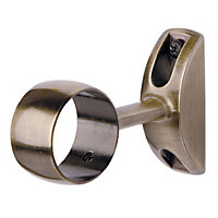 Harrison Drape Satin Nickel Tunnel Bracket