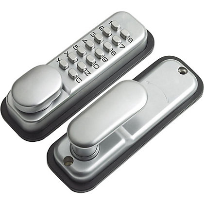 Image for Yale Push Button Door Lock - Chrome from StoreName
