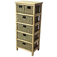 6 Drawer Storage Unit - Seagrass
