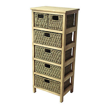 Image for 6 Drawer Storage Unit - Seagrass from StoreName