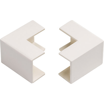 Image for Schneider INS20124 Electric Mini Trunking Outside Angles - White - 25x16mm from StoreName