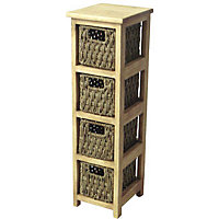 Image for slim 4 drawer storage unit seagrass from storename