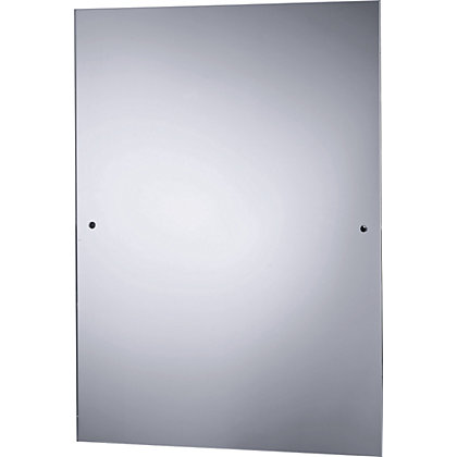 silver rectangular wall bathroom mirror 13151