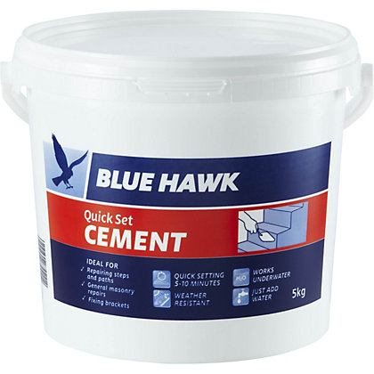 Image for Blue Hawk Quick Set Cement Bucket - 5kg from StoreName
