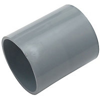 50mm Pipe Connector - Grey - 65 x 55 x 55mm