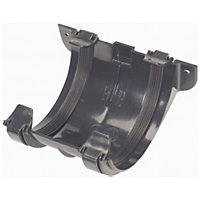 112mm Half Round Joint Bracket - Black - 80 x 145 x 135mm