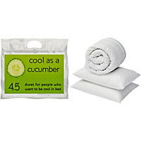 Cool as a Cucumber 4.5 Tog Duvet and Pillow Set - Single.
