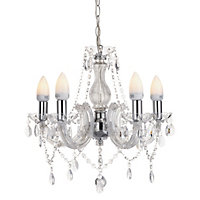 Marie Therese - 5 Light Chandelier - Clear