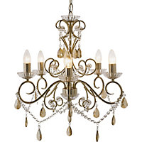 Champagne - 5 Light Chandelier