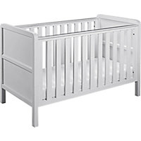 Curve Nursery Cot Bed - White.