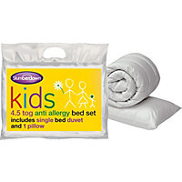 Slumberdown 4.5 Tog Kids Pillow & Duvet Set - Single.