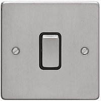 Schneider Electric 16AX Single 2 Way Switch - Brushed Chrome