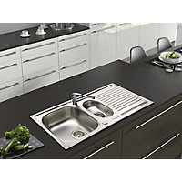 Stainless Steel Bowl Sink & Tap Pack- 1.5 Bowl