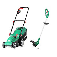 Qualcast 1500W Electric Rotary Lawn Mower and 350w Trimmer Set