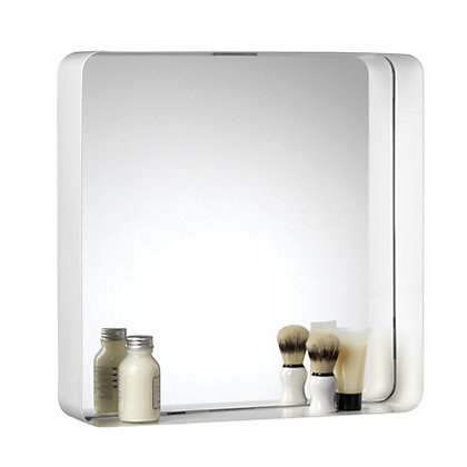 croydex barton white box framed mirror 13151